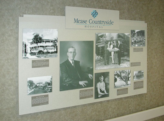Display Design - Mease Countryside Hospital, history display