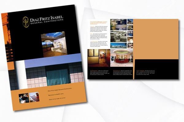 Graphic Design Diaz Fritz Isabel General Contractors Healthcare Division Brochure